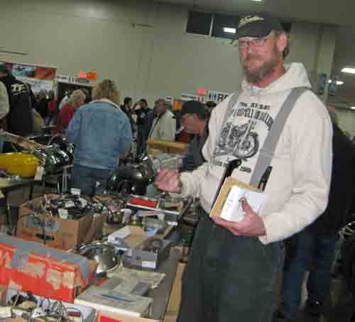 Jeff Scott seeks treasure at the swap meet.