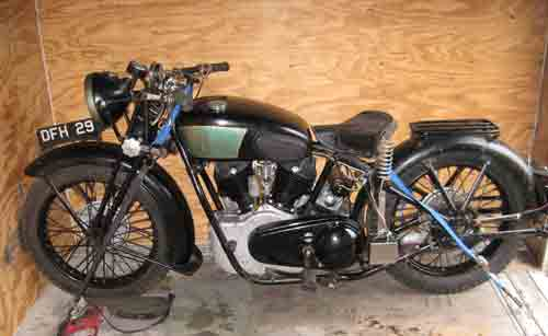 Royal Enfield in the trailer