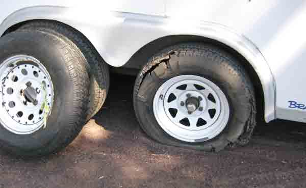 The flat tire and why double axles are good.