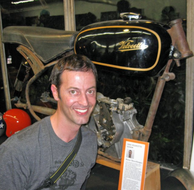 Blase with his Velocette project