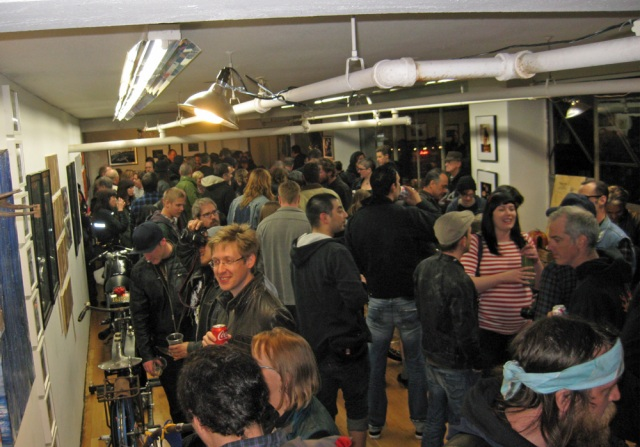The crowded gallery