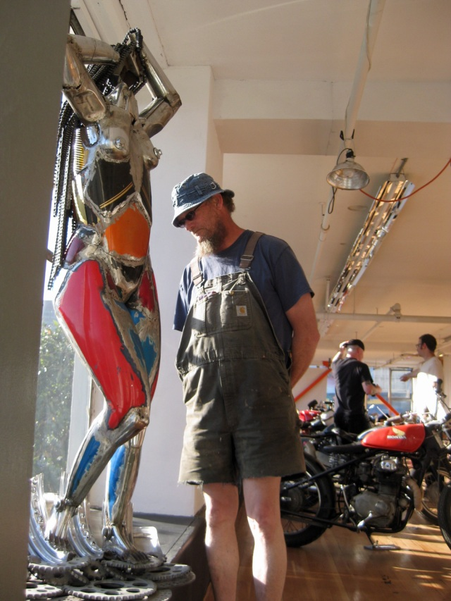 "Charlie O'Hanlon's ""Venus de Moto"" greeted guests to the show"