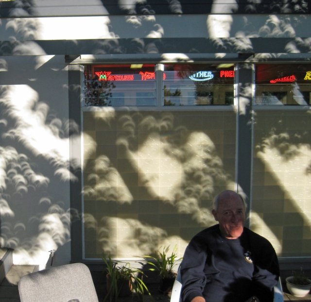 Don Danmeier and shadows from the eclipse
