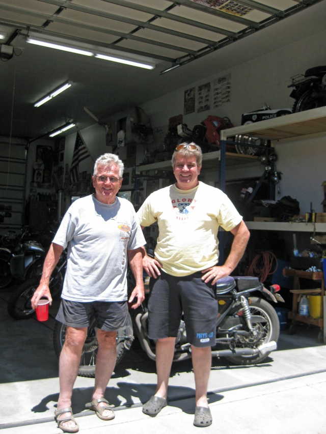 Dee and Paul on the back side of the shop