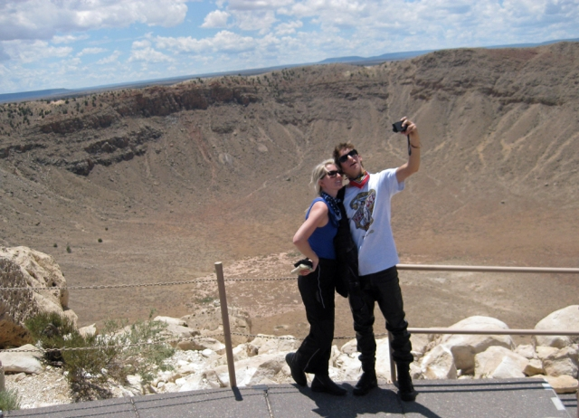 Alison and Eric at Meteor Crater