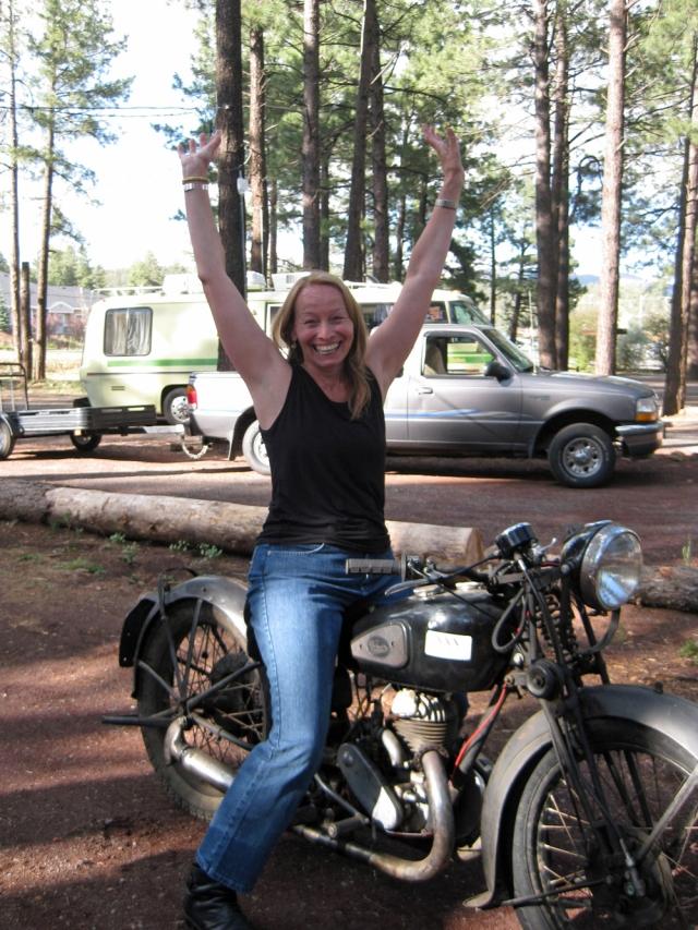 Gwen rides the GTP