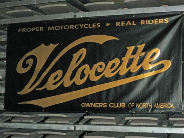 The Velocette banner