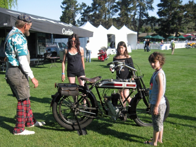 Kim and her family set this bike in the space for bikes that finished the Cannonball cross country tour.