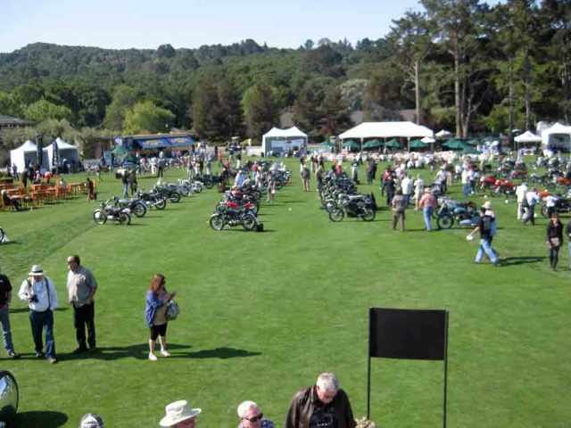 A view of the show bikes