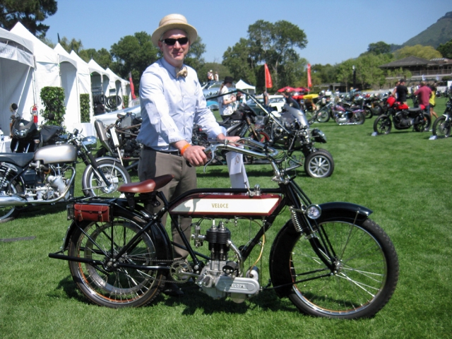 Pete and his 1913 Veloce at the Quail