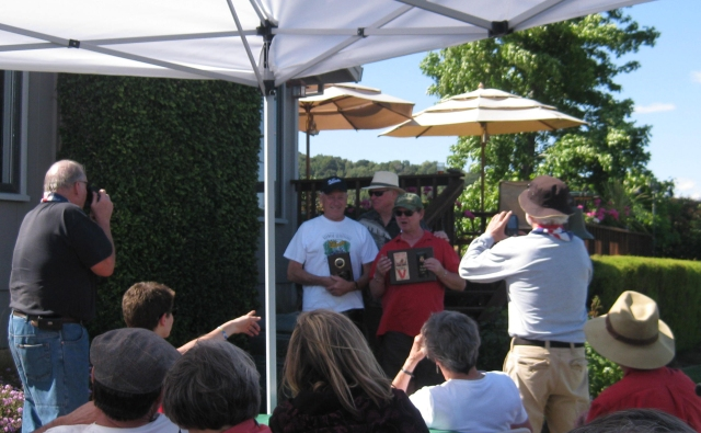 The dreaded Lucas and Rat Trap awards presented to Don and Olav