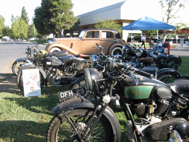 View of the bikes with the Rolls Royce