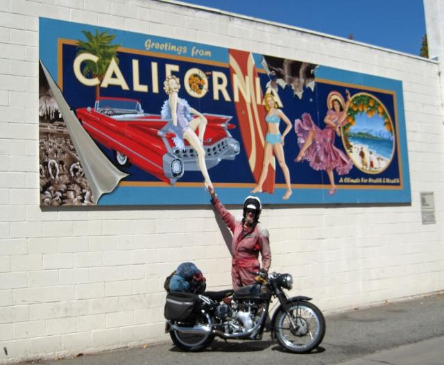 Jeff enjoys this mural in Carpinteria