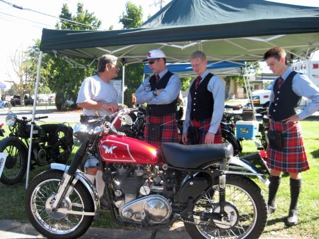 Kilts and Bikes, what a great combination