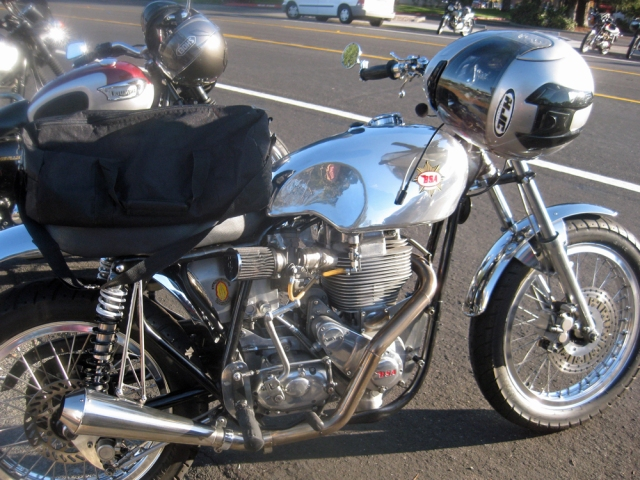 Shiny BSA and Triumph