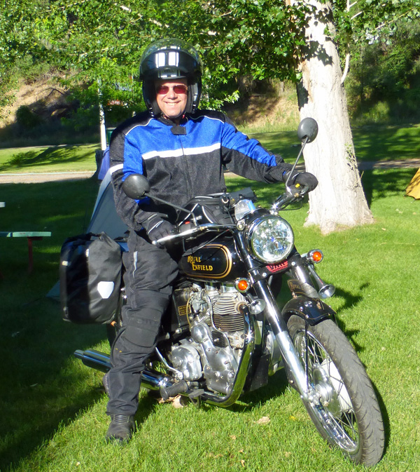 Steve and his modern Royal Enfield